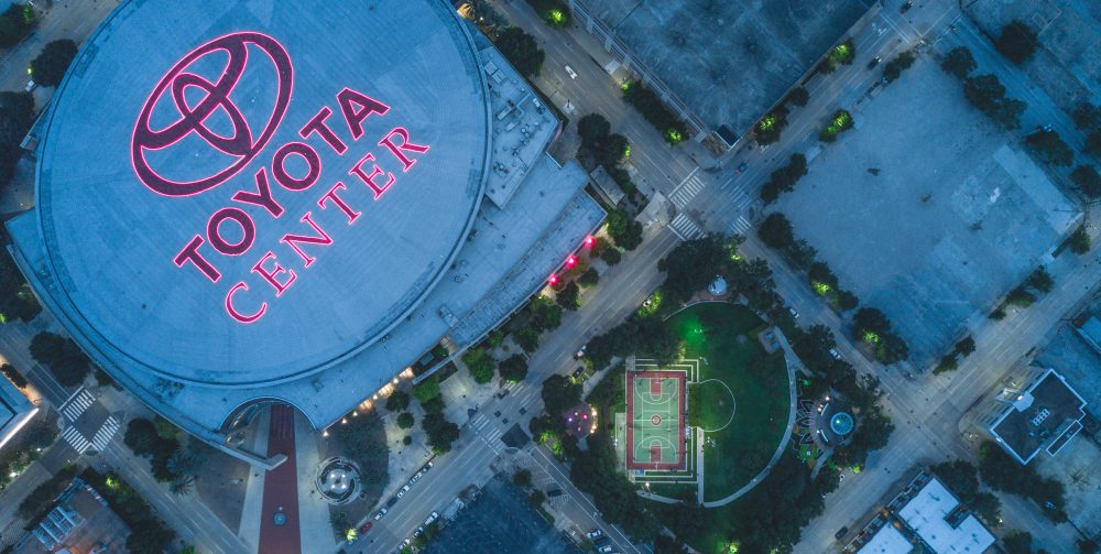 top view of Toyota centre